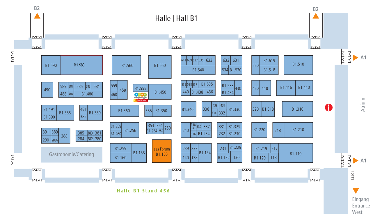Hallenplan Intersolar 2014