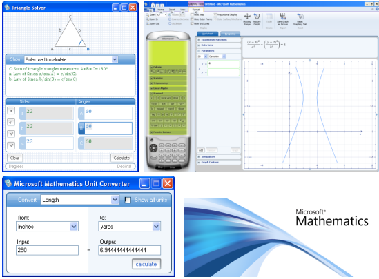 <BR>Screenshots Microsoft Mathematics 4.0