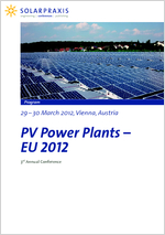 Solarpraxis Konferenz PV Power Plants - EU 2012