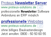 Screenshot Google AdWords Beispiel