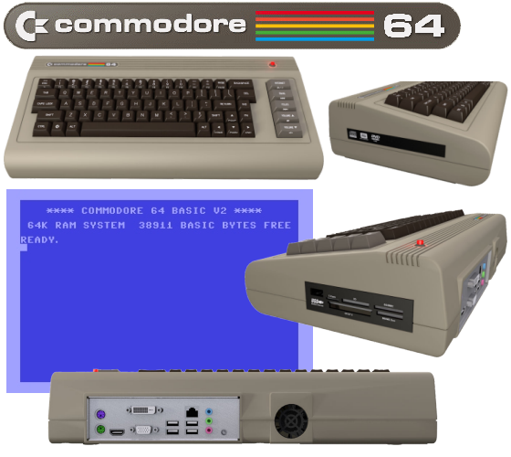 Proteus Solutions: Collage Commodore C64x im Retrodesign