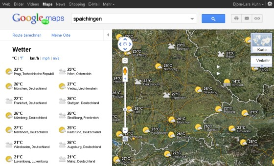 Proteus News: Screenshot Google Maps Überblick