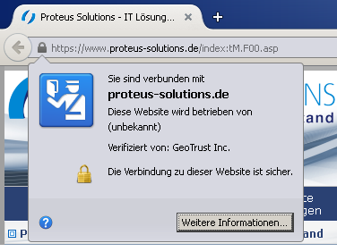 Website mit SSL 2