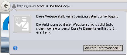 Website mit SSL 3